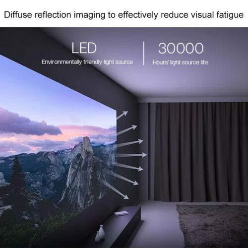 جهاز العرض دي ال بي SJL4014GL DLP من شاومي ميجيا الإصدار العالمي قابس أوروبي ذو جودة عالية الوضوح بالكامل 1080 بكسل جهاز عرض مسرحي منزلي للأفلام مزوّد ببلوتوث وواي فاي بمؤشر LED 30000, ابيض