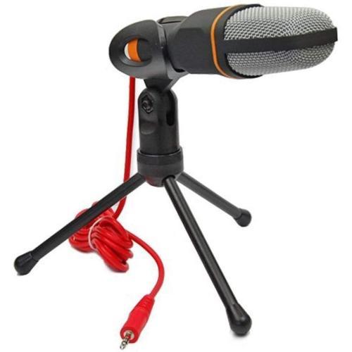 ميكروفون لاسلكي بمكثف مع مشبك حامل لجهاز الكمبيوتر المحمول/ بي سي يستخدم للدردشة وغناء كاريوكي من اريلر